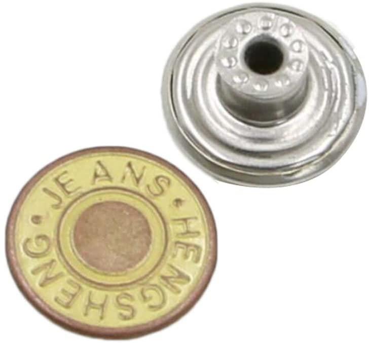 Alien Storehouse 10 PCS Jeans Button Tack Buttons Metal Suspenders Buttons Replacement - 26
