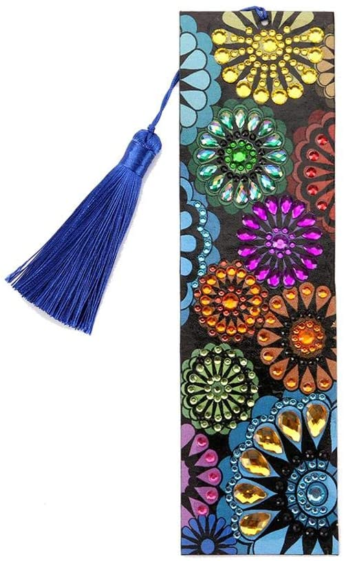 weemoment Diamond Painting Bookmarks-Diamond Painting for Adults 5D DIY Bookmarks with Tassel Arts Crafts Set Rhinestone Mosaic Gifts for Gift