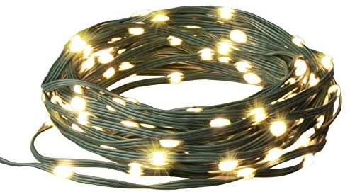 Vanthylit 150 LED Fairy String Lights with Green Wire Twinkle Warm White Christmas Light Decorations for Indoor and Outdoor Decoration