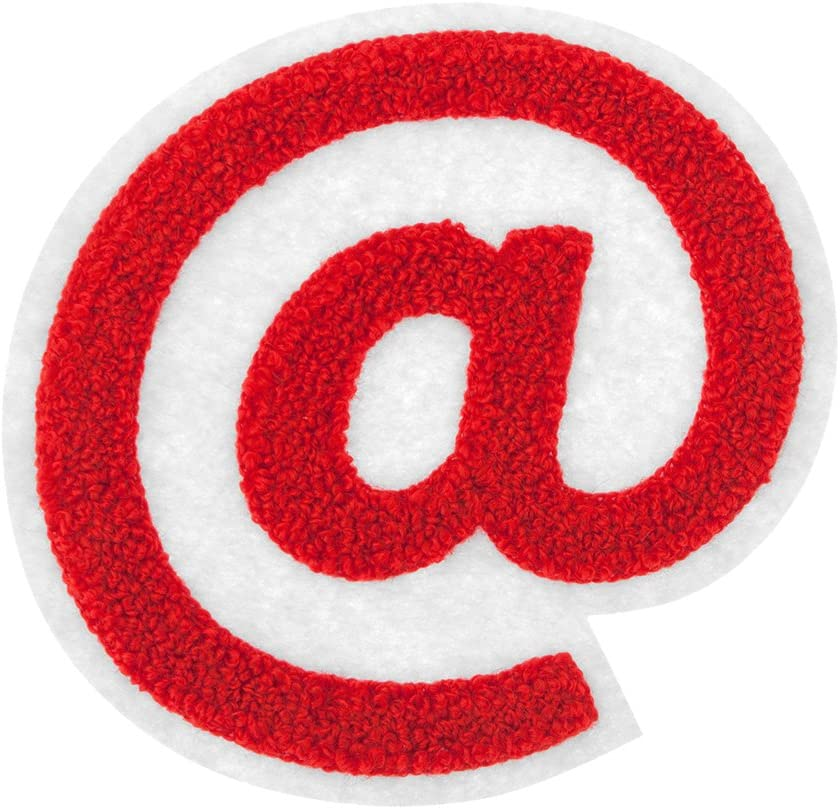 M&J Trimming Iron On Symbols - Varsity Chenille !#$&?@ Patches - Iron Adhesive or Sew On Appliques - Decorative 4