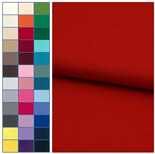 COTTONVILL 20COUNT Cotton Solid Quilting Fabric (3yard, 18-Haute Red)