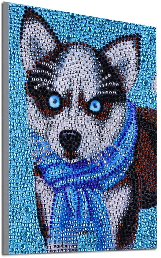 5D Diamond Painting kit, Special Shape Crystal Rhinestone Embroidery Painting, Picture Art, Home Wall Decoration (DZ194 Dog 20x25cm)