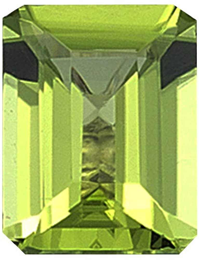 Instagem Natural Peridot Emerald Shape AAA Quality from 5x3mm-12x10mm