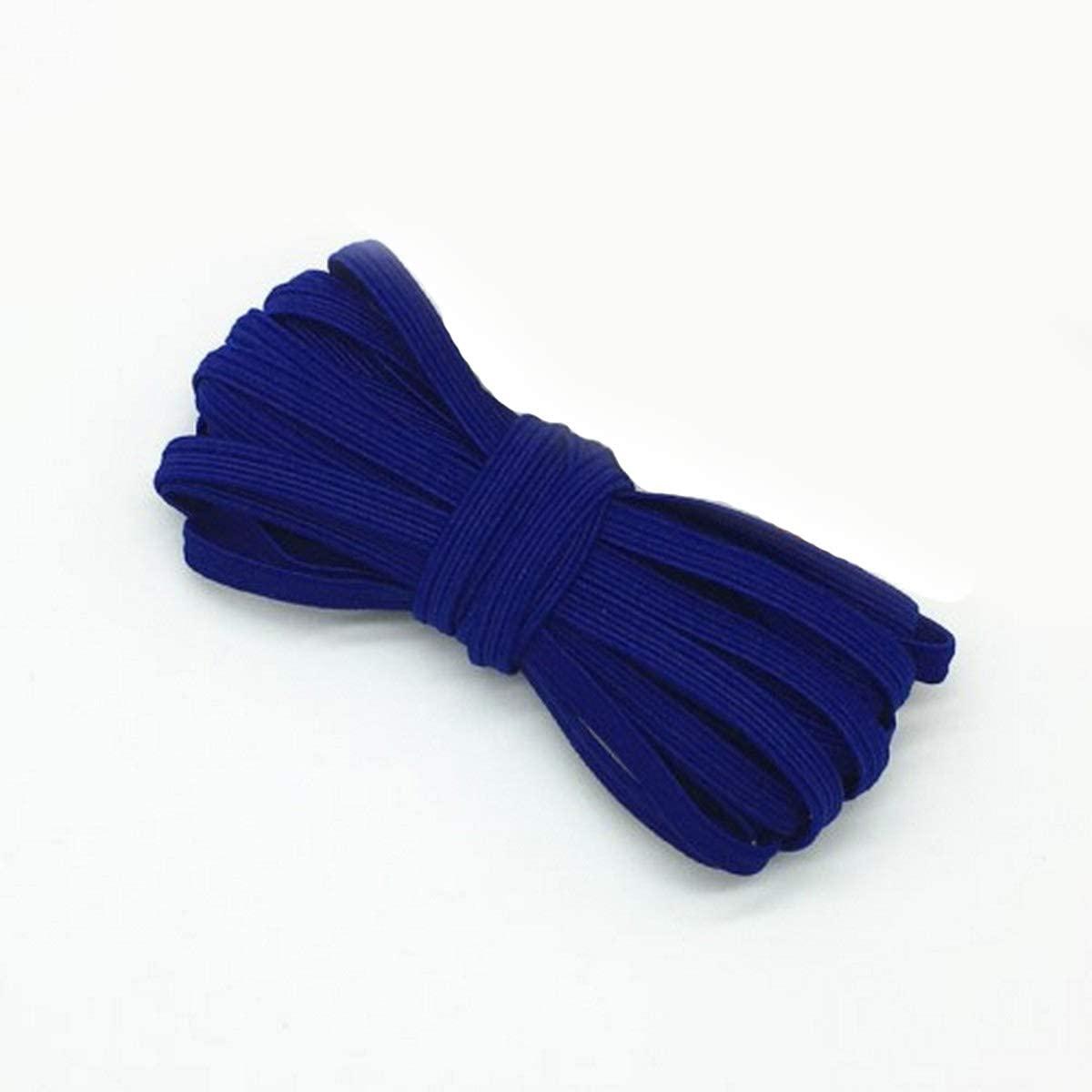 1/4 inch Elastic Ribbon High-Elastic Elastic Band Rubber Band Elastic Line DIY Lace Trim Sewing Waist Band Garment Accessories 4 Yards - Blue