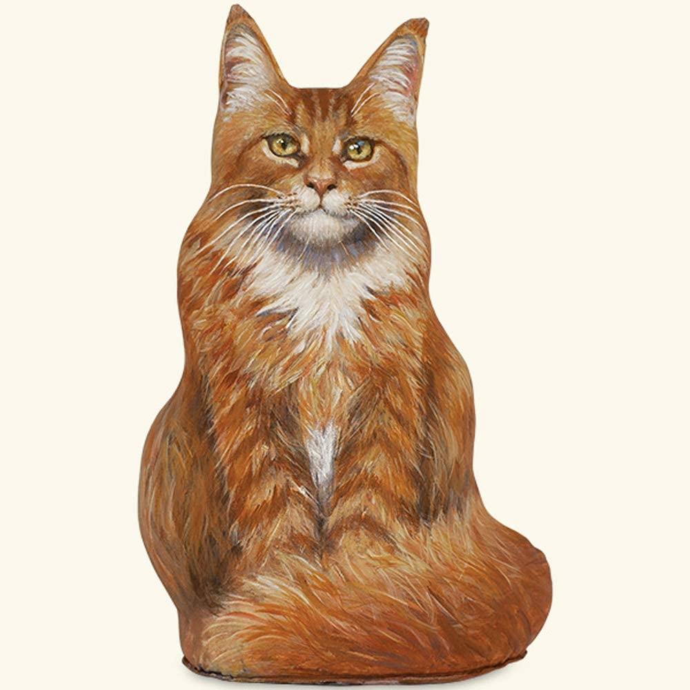 DOORSTOPS - Marmalade Maine Coon CAT Doorstop - CAT Door Stopper