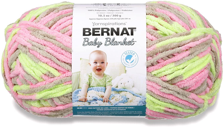 Bernat Baby Blanket Big Ball Little Girl Dove