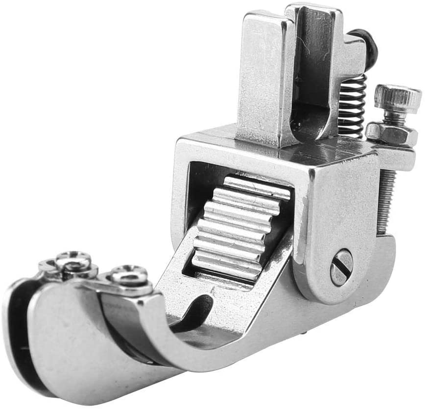 HEEPDD Sewing Machine Presser Feet, Adjustable Steel Roller Presser Foot Industrial Flat Bed Sewing Machine Part for Leather Clothes Thick Fabric Cloth (Roller Distribution Tool)