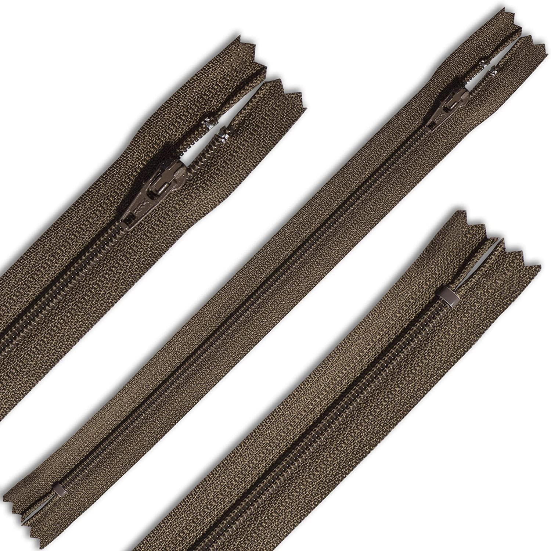 Zipper 9 Nylon Coil Pant Skirt Dress Zipper Color Medium Brown