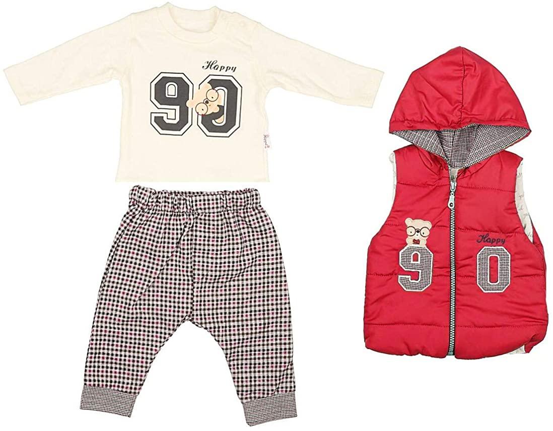 Hippil Baby Newborn Girls or Boys Clothes 3-Piece Outerwear Set