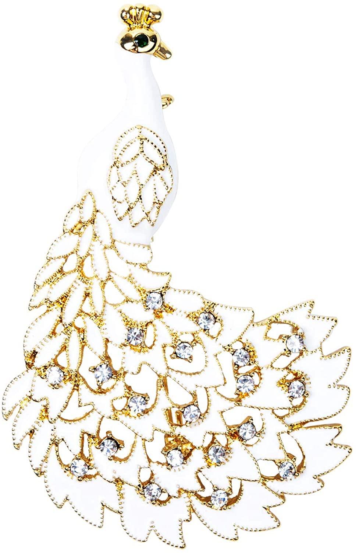Peacock Brooch Rhinestone Vintage Elegant Accessories Pins Brooches for Women, Girls, Ladies