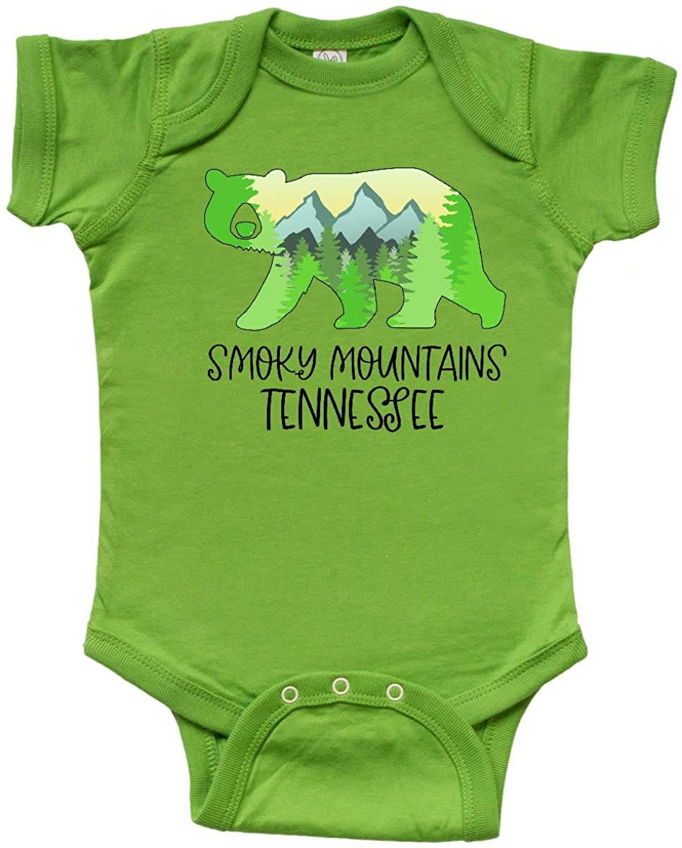 inktastic Smoky Mountains, Tennessee- Mountains and Bear Shape Infant Creeper