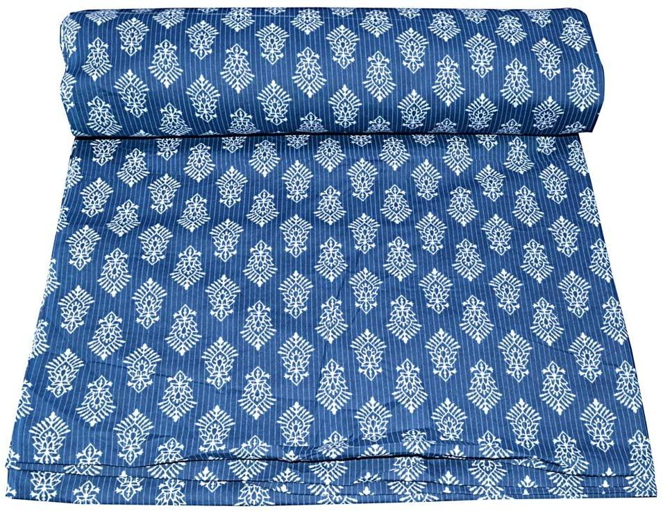 by Yard Batik Hand Block Print Fabric Handmade New Sanganeri Hand Block Print Fabric Cotton Fabric Multi Color Pure Cotton Fabric Sanganeri Fabric Indian Cotton Block Print Fabric