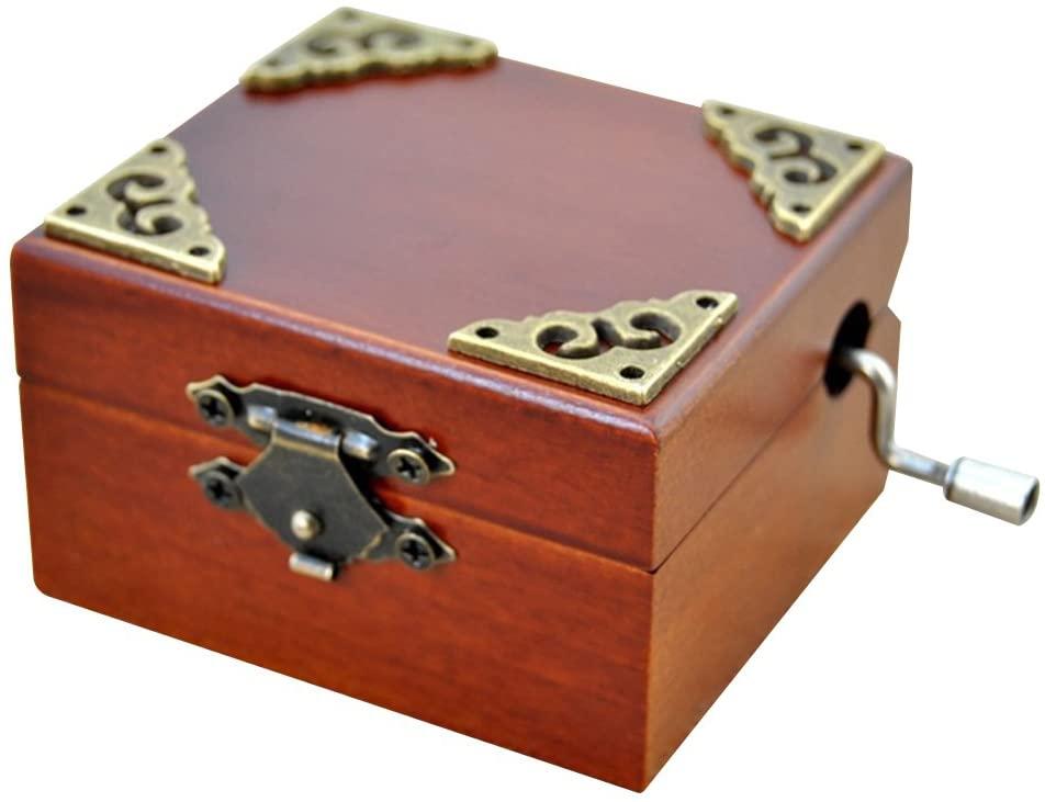 Gorgeousstyles Wooden Music Box Hand Cranked Spirited Away