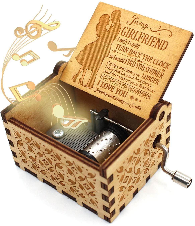 ukebobo Wooden Music Box- You are My Sunshine Music Box, from Boyfriend to Girlfriend, Gifts for Girlfriend - 1 Set