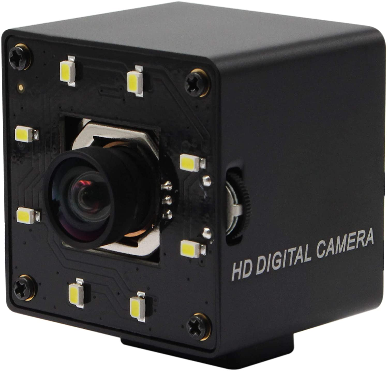 4K Autofocus USB Webcam No Distortion Lens Mini Camera Sony IMX415 Video Surveillance Webcamera,USB Webcam 4K 3840x2160 Autofocus Day Night Camera with White LEDs,4K Cameras for Window,Android,Linux