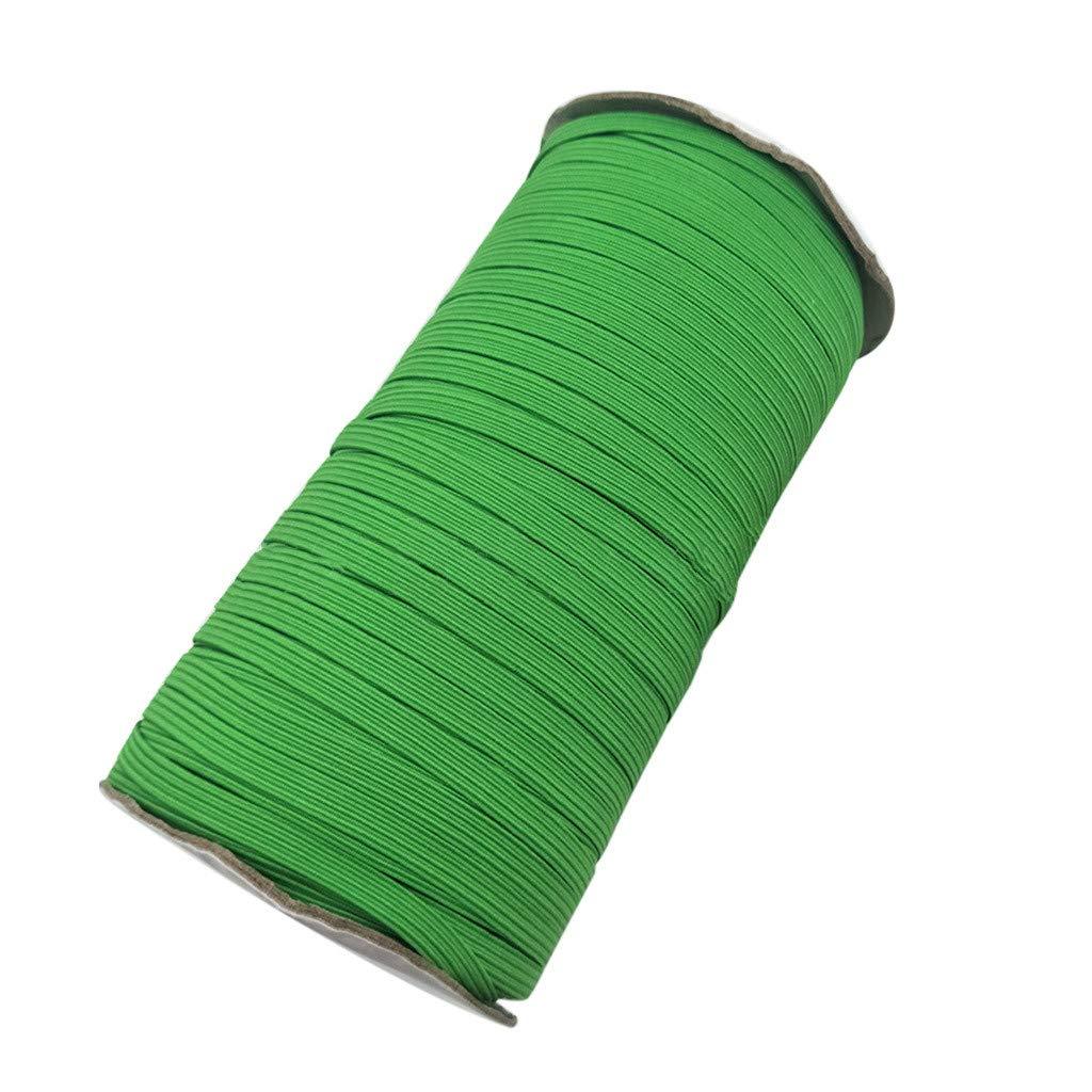 142 Yards Elastic DIY Hand Rope for Cover, UMei Multifunctional Elastic Line Length Handmade Rubber Thread Elastic Slingshot Face Towel Turban Fixed Line Rope (Green)