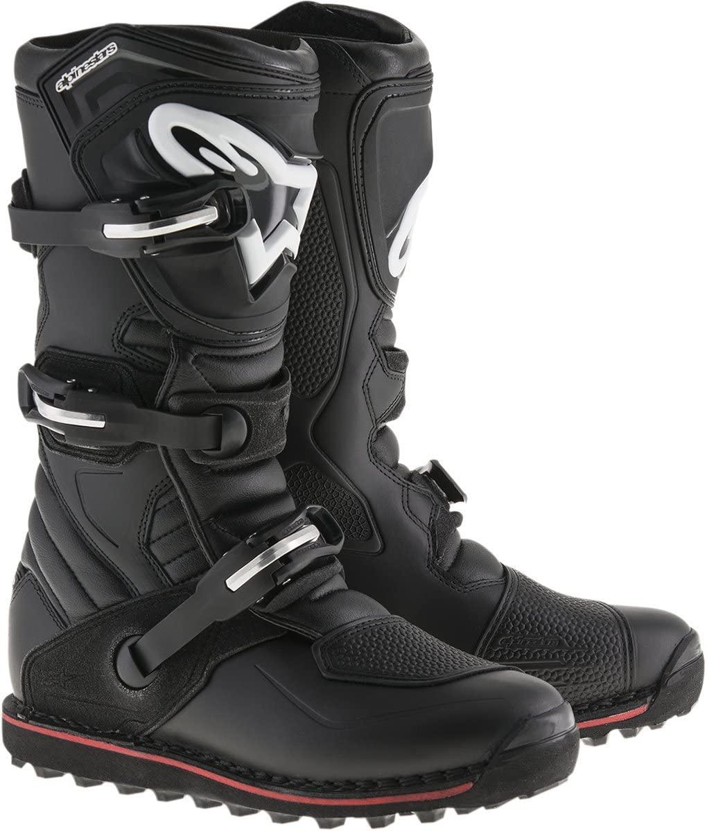 Alpinestars 2004017-13-9 Mens Tech T Motocross Boot, Black/Red, 9