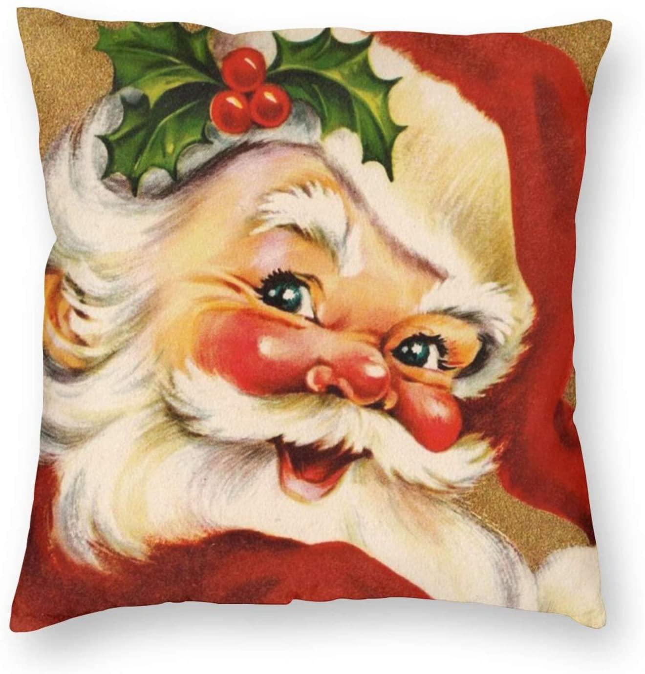 Christmas Decorations Christmas Pillow Covers Santa Throw Pillow Cushion Cover Case Square Pillowcase