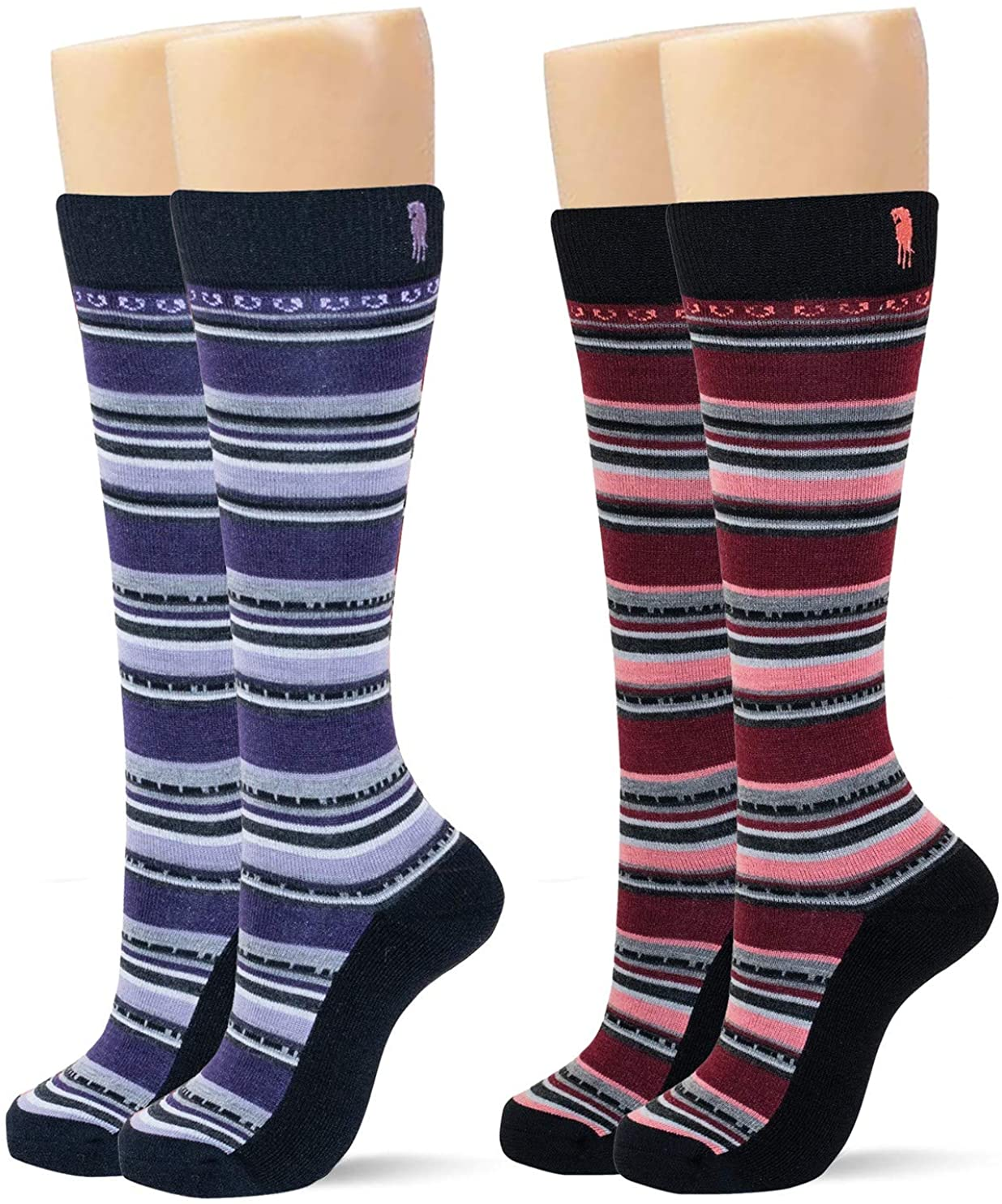NobleWool Performance Boot Socks Pack of 2 (One-Size)