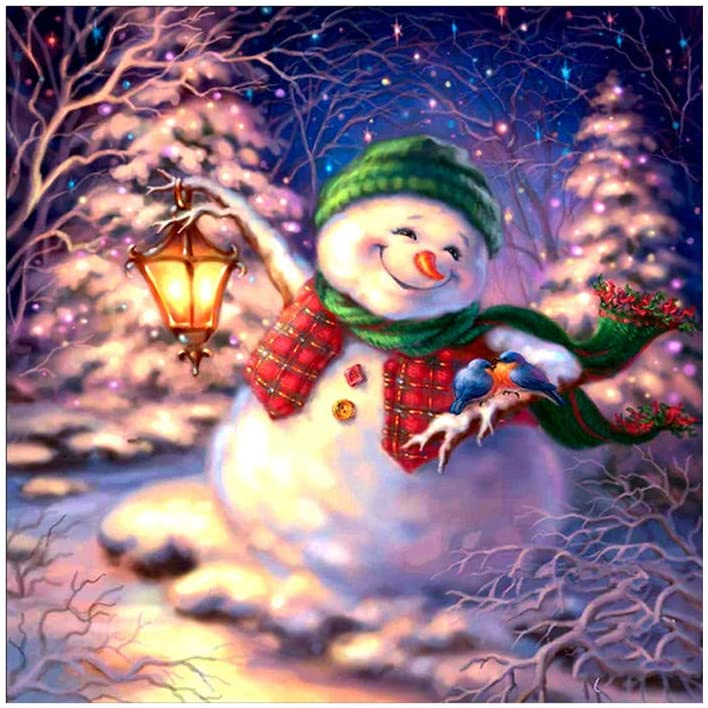 5D Diamond Painting Christmas Snowman Embroidery DIY Cross Stitch Home Decor, Home Decor, for New Year (As Shown)