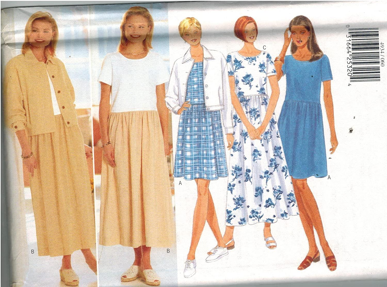 4934 Uncut Butterick Misses Sewing Pattern Jacket Dress Size 6 8 10