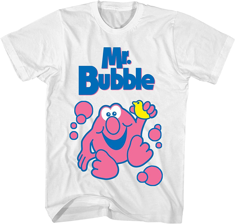 Mr Bubble Shirt Men's Cotton T-Shirt Fashion White Tee Shirts Men Sport Clothing Top