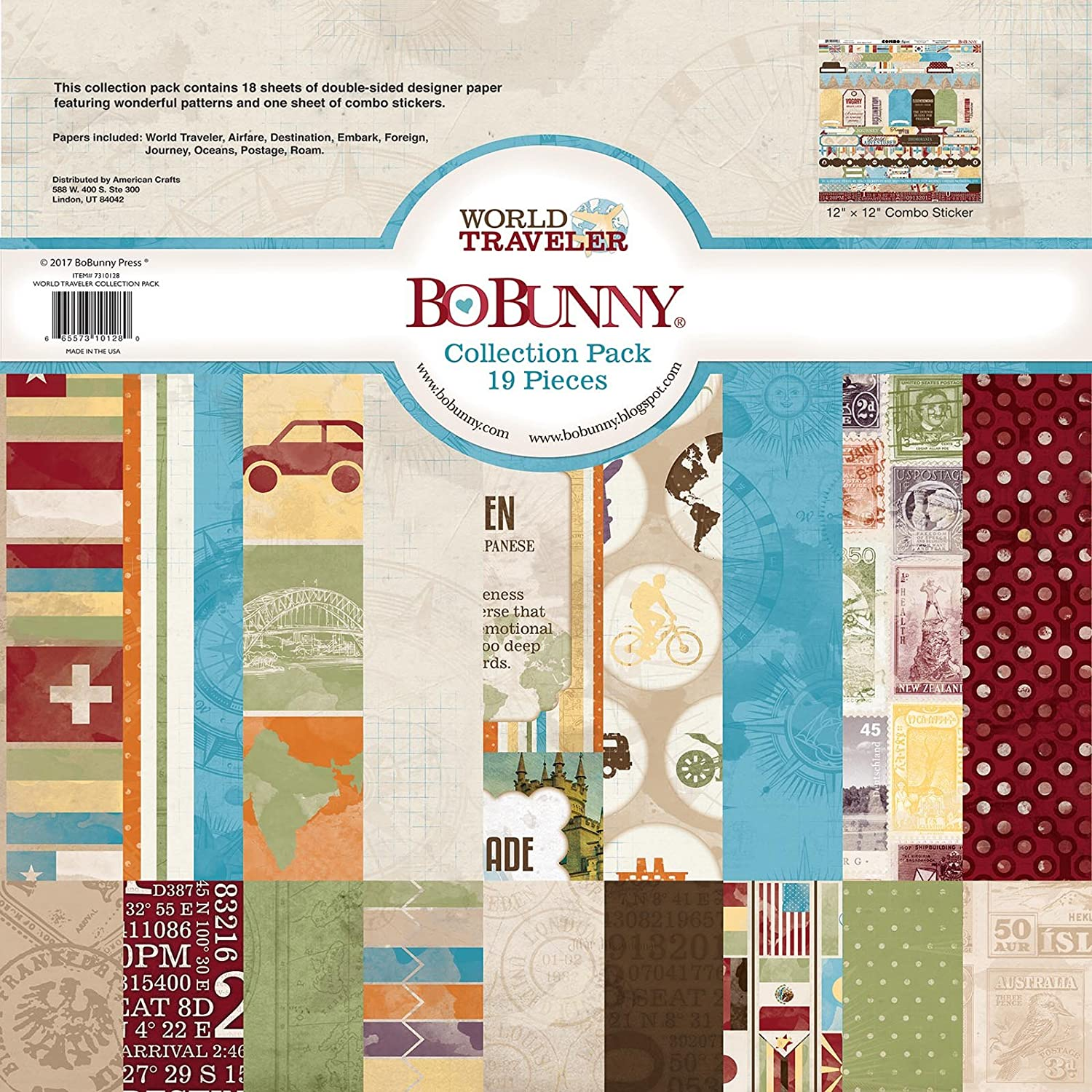 Bo Bunny Collection Paper, Multi