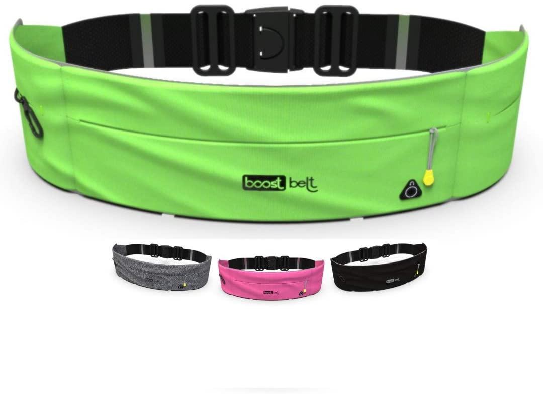 Boost Belt Bag Running Belt Phone Holder for Running Waist Pack for Fitness Key Clip Grey Fanny Pack Cangureras