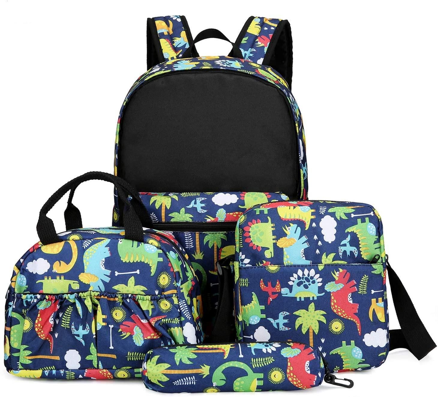 Laptop Backpacks Set 4 Pcs Travel Backpack,Lunch Box,Pencial Box, Shoulder Bag for Men Women