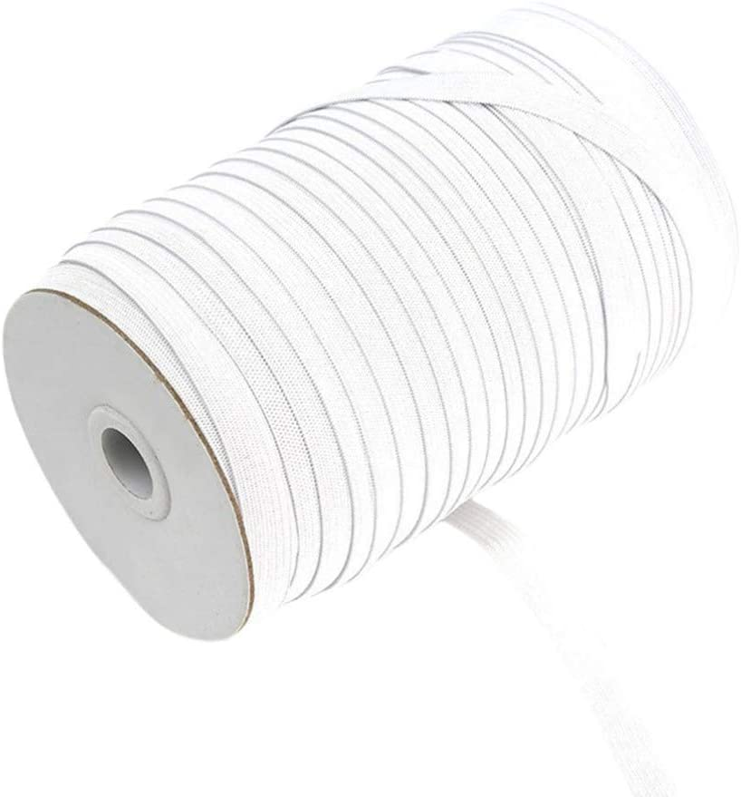 Milisten 91M Elastic Spool Knit Sewing Stretch Elastic Bands Spool Waistband Strap Roll for Sewing Clothing Accessories