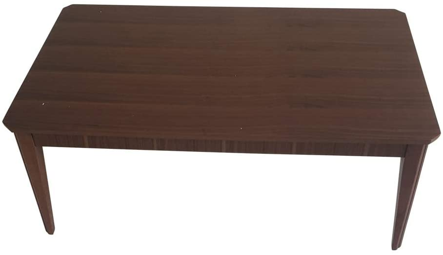 Modern Coffee Table Walnut Brown Contemporary Rectangle Wood Finish Includes Hardware
