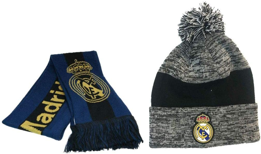 Icon Sports Real Madrid Officially Licensed Soccer Scarf & Beanie 10-3