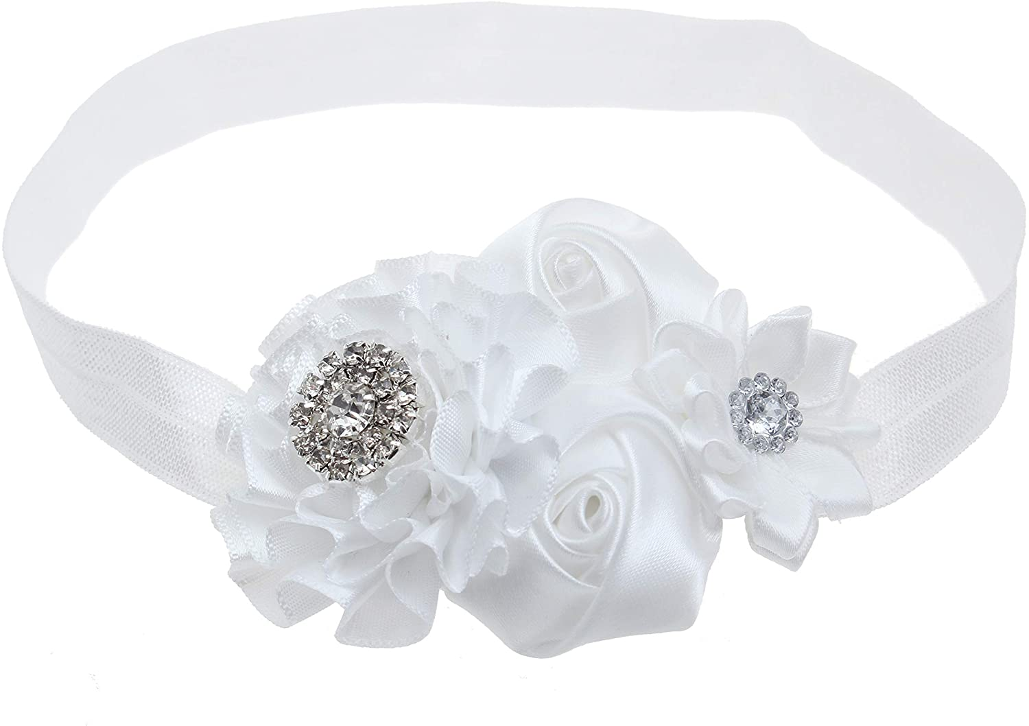 KEKEDA Baby Girl Baptism Headbands with Bows
