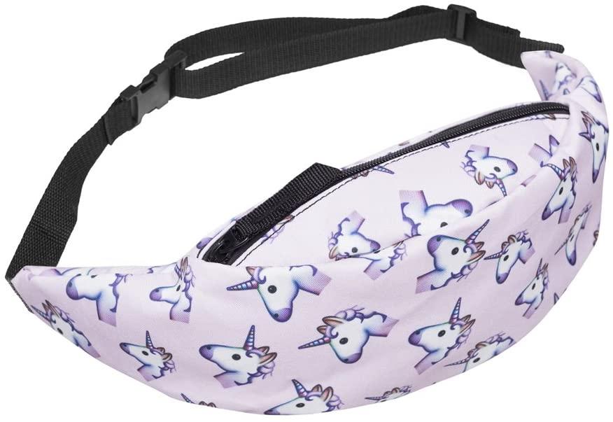 WHO CARES 3D Colorful Printing Hiking Fanny Packs Girls Waist Bag for Men Money Belt Travelling Mobile Phone Bag