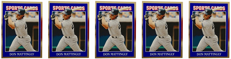(5) 1992 Sports Cards #56 Don Mattingly Baseball Card Lot New York Yankees