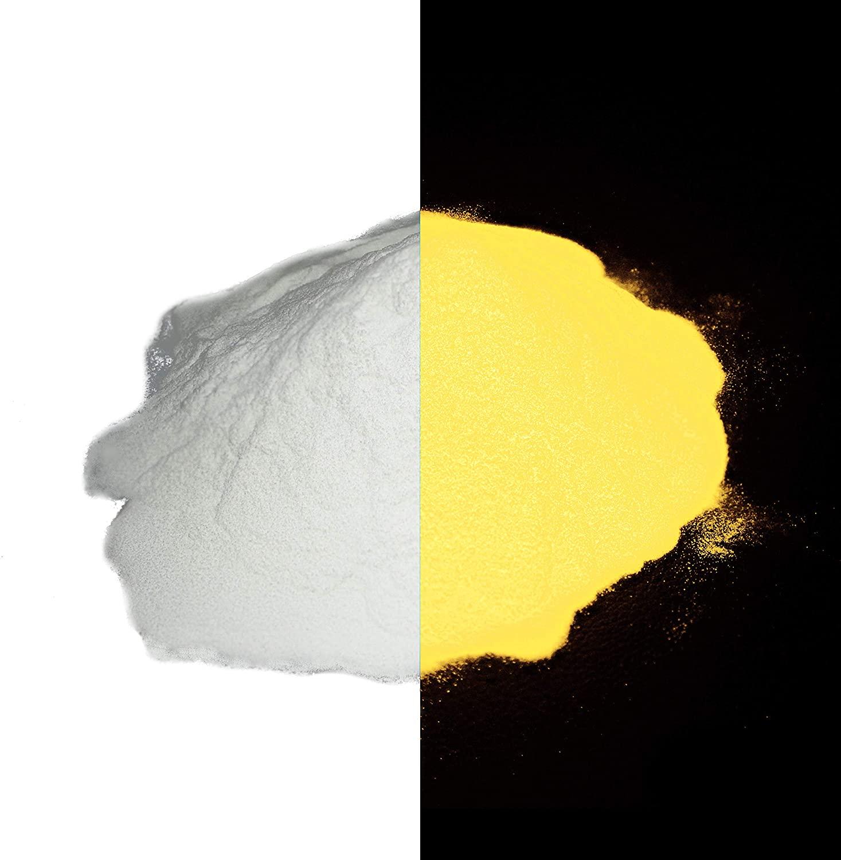 Super Phosphorescent Glow Powder Pigment 1/2 oz - Orange - No UV Light Needed!