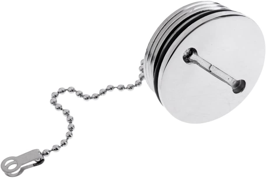 Baoblaze Boat Marine Replacement Fuel Gas Deck Fill Cap Slotted Top Stainless Steel 1-2/3