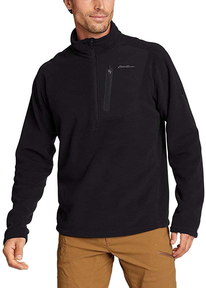 Eddie Bauer Men's Cloud Layer Pro 1/4-Zip Pullover, Black Regular M