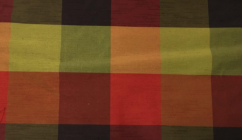 Buffalo Checks Faux Silk Fabric by Yard 54