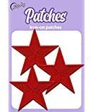 Iron On Patches - Red Star Patch Iron On 3 pcs Patch Embroidered Applique Star S-63