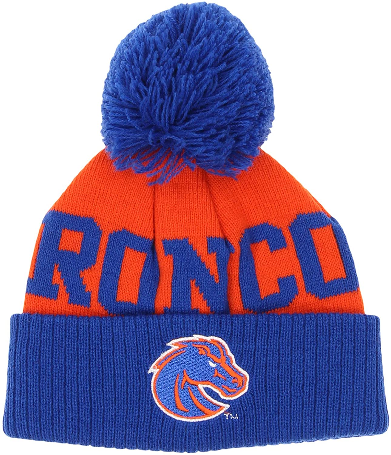 NCAA Infants Boise State Broncos Jacquard Cuffed Knit Pom Hat, 12 Months