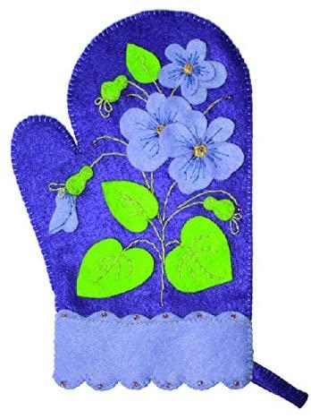 Felting kit Charivna mit #B-187 Oven glove flowers 24x15 cm / 9.45x5.91 in