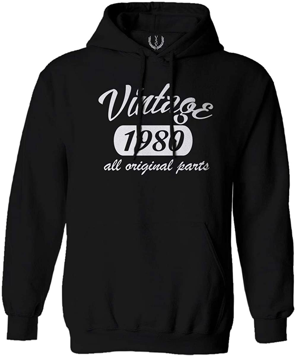 Cool Funny 40th Birthday Gift Vintage Since 1980 Years Old Hoodie