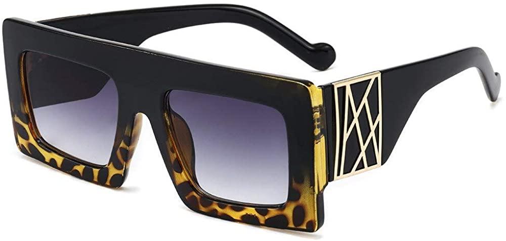New Oversized Square Sunglasses Women 2020 Luxury Brand Fashion Leopard Black Sun Glasses Men Gafas Shade Mirror Visor