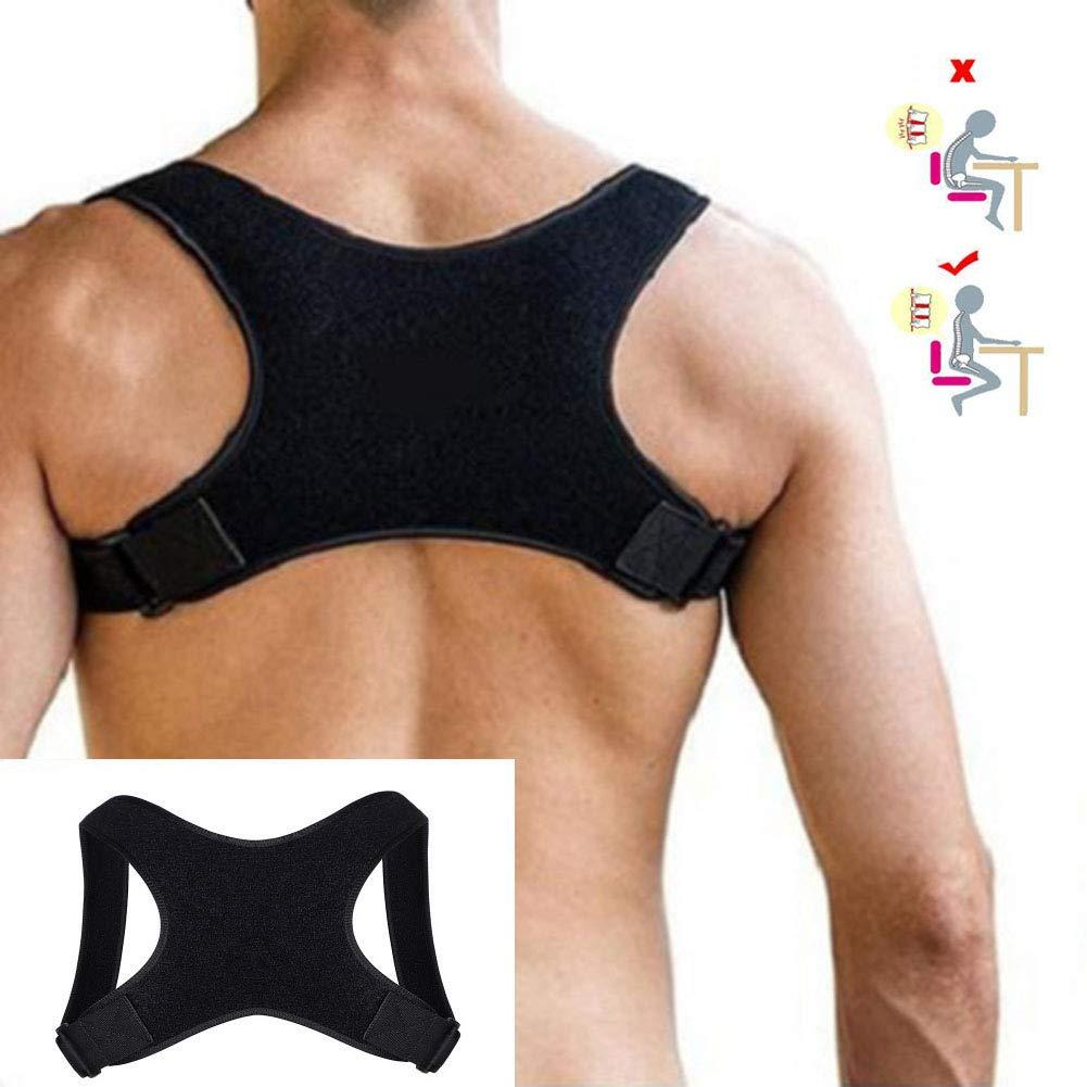 HJZXC Posture Corrector for Women and Men, Back Brace Posture Corrector, Adjustable Straightener Supports Shoulder and Upper Back for Correct Posture, provide back support
