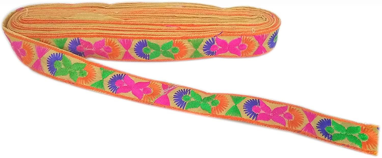 Yuktha 9Yards 2.5Cm Cotton Embroidery Lace (Sandal)