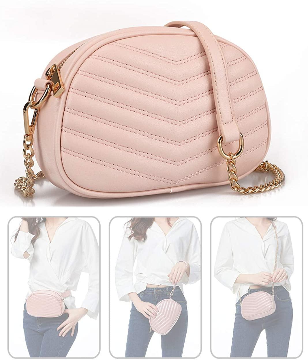 Fashion Waist Bags for Women Adjustable Waterproof Crossbody Satchel Bag Bumbag