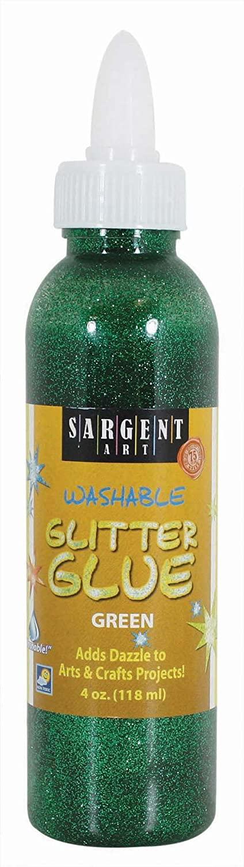 Sargent Art 22-1866 4-Ounce Glitter Glue, Green