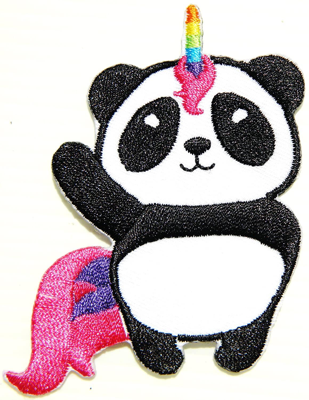 Panda Rainbow Unicorn Horse Little Pony Fancy Animal Kid Jacket T-shirt Patch Sew Iron on Embroidered Applique Sign Badge Logo Costume Gift by PANICHA