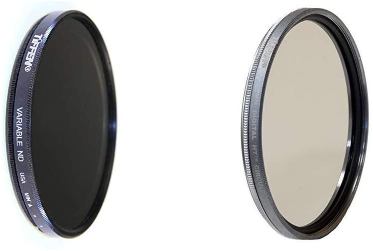 Tiffen 77mm Variable Neutral Density Filter 77VND for Camera lenses ND & Digital HT Multi Coated Circular Polarizer